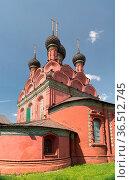Epiphany church in Yaroslavl, 17th century. Golden ring of Russia. Стоковое фото, фотограф Zoonar.com/Yuri Dmitrienko / easy Fotostock / Фотобанк Лори