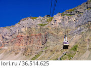 Seceda Seilbahn in den Dolomiten - ropeway to the mountain Seceda... Стоковое фото, фотограф Zoonar.com/Liane Matrisch / easy Fotostock / Фотобанк Лори