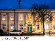 Kuressaare, Estonia. Former Branch Of Tallinn Technological University... Стоковое фото, фотограф Ryhor Bruyeu / easy Fotostock / Фотобанк Лори