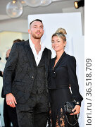 The tennis player Camila Giorgi with brother during the Red carpet... Редакционное фото, фотограф Maria Laura Antonelli / AGF/Maria Laura Antonelli / age Fotostock / Фотобанк Лори