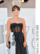 Roberta Giarrusso during the Red carpet at the 78th Venice Film Festival... Редакционное фото, фотограф Maria Laura Antonelli / AGF/Maria Laura Antonelli / age Fotostock / Фотобанк Лори