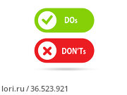 Concept of choosing between dos and donts. Стоковое фото, фотограф Elnur / Фотобанк Лори