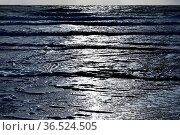 Nordsee mit auslaufenden Wellen im Gegenlicht, Westkueste Hoernum... Стоковое фото, фотограф Zoonar.com/Stefan Ziese / age Fotostock / Фотобанк Лори