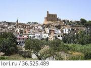 Albalate del Arzobispo, town with Palacio Episcopal (XIII-XIV century... Стоковое фото, фотограф J M Barres / age Fotostock / Фотобанк Лори