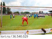 Das große Spiel um den Einzug in den DFB-Pokal - SBFV-Pokal - 2015... Стоковое фото, фотограф Zoonar.com/Joachim Hahne / age Fotostock / Фотобанк Лори