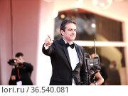 The director Lorenzo Vigas during the Red carpet at the 78th Venice... Редакционное фото, фотограф Mirco Toniolo / AGF/Mirco Toniolo / AGF / age Fotostock / Фотобанк Лори