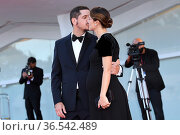 Gabriele Mainetti, Alice Vicario during 'Freaks Out' red carpet during... Редакционное фото, фотограф AGF/Maria Laura Antonelli / age Fotostock / Фотобанк Лори