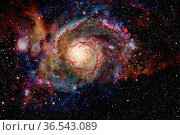 Galaxy and nebula. Elements of this Image Furnished by NASA. Стоковое фото, фотограф Zoonar.com/Irina Dmitrienko / easy Fotostock / Фотобанк Лори