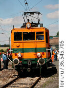 Oldtimer auf Schienen - die älteste E-Lok Deutschlands, die noch immer... Стоковое фото, фотограф Zoonar.com/Martina Berg / easy Fotostock / Фотобанк Лори