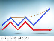 Concept of growth with chart diagram. Стоковое фото, фотограф Elnur / Фотобанк Лори