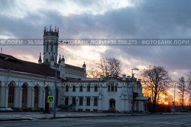 Россия. Петергоф. Готический вокзал. Станция Новый Петергоф