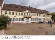Гейдельберг, Германия. Дворец Буассере (1703–1706). Ныне здесь расположен университетский семинар германистики (2017 год). Редакционное фото, фотограф Rokhin Valery / Фотобанк Лори
