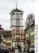 Frauentor, Wangen im Allgäu, Baden-Wuerttemberg, Deutschland| Wangen... Стоковое фото, фотограф Zoonar.com/Günter Lenz / age Fotostock / Фотобанк Лори