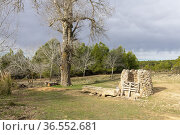 Pozico del Fraile. Almansa. Albacete. Стоковое фото, фотограф Antonio Real / age Fotostock / Фотобанк Лори