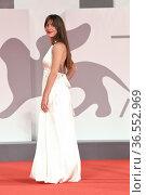 Audrey Dana during the Red carpet at the 78th Venice Film Festival... Редакционное фото, фотограф Maria Laura Antonelli / AGF/Maria Laura Antonelli / age Fotostock / Фотобанк Лори