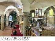Arezzo Tuscany Italy. The crypt of Santa Maria della Pieve church. Стоковое фото, фотограф Marco Brivio / age Fotostock / Фотобанк Лори