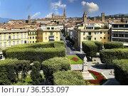Arezzo Tuscany Italy. Elevated view of the city. Стоковое фото, фотограф Marco Brivio / age Fotostock / Фотобанк Лори
