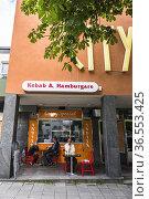 Stockholm, Sweden A small Indian restaurant in the Gubbangen suburb. Редакционное фото, фотограф A. Farnsworth / age Fotostock / Фотобанк Лори