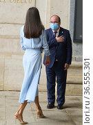 Queen Letizia of Spain, Javier Solana, Miquel Iceta, Carlos Zurita... Редакционное фото, фотограф ©MANUEL CEDRON / age Fotostock / Фотобанк Лори