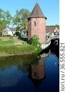 Wasserturm, Eichstetten, dreisam, bach, kaiserstuhl, fluss, turm,... Стоковое фото, фотограф Zoonar.com/Volker Rauch / easy Fotostock / Фотобанк Лори