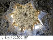 Ceiling in the Sala de los Abencerrajes, the Harem, Palacios Nazaries... Стоковое фото, фотограф Frederic Soreau / age Fotostock / Фотобанк Лори