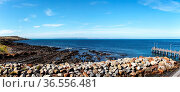 Anlegestelle der Fähre nach Kangaroo Island in Cape Jervis, South... Стоковое фото, фотограф Zoonar.com/Dirk Rueter / age Fotostock / Фотобанк Лори