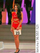 Sie gab auch im Bikini eine gute Figur ab: Die spätere Drittplatzierte... Стоковое фото, фотограф Zoonar.com/J HAHNE / age Fotostock / Фотобанк Лори