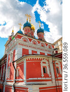 St. George's Church next the Zaryadye Park in Moscow, Russia. Стоковое фото, фотограф Zoonar.com/Alexander Blinov / easy Fotostock / Фотобанк Лори