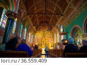 Bruges, Belgium - April 18, 2017: Interior of the Basilica of the... Стоковое фото, фотограф Zoonar.com/Yuri Dmitrienko / easy Fotostock / Фотобанк Лори