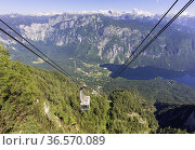Triglav National Park, Upper Carniola, Slovenia. The Vogel - Bohinj... Стоковое фото, фотограф Ken Welsh / age Fotostock / Фотобанк Лори