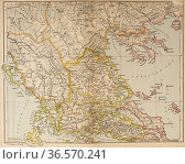 Map of Ancient Greece, northern part. From Historical Atlas, published... Редакционное фото, фотограф Classic Vision / age Fotostock / Фотобанк Лори