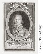 """Luis Fermín de Carvajal, Conde de la Unión, 1752 â. """" 1794. Officer... Редакционное фото, фотограф Classic Vision / age Fotostock / Фотобанк Лори"""