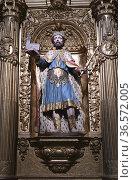 Calahorra, Cathedral of Santa Maria (17th century). Ezequias King... Стоковое фото, фотограф J M Barres / age Fotostock / Фотобанк Лори
