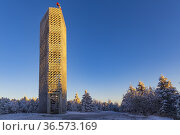 Lookout tower, Velka Destna, Orlicke mountains, Eastern Bohemia, Czech... Стоковое фото, фотограф Richard Semik / easy Fotostock / Фотобанк Лори