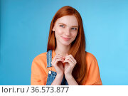 Devious tricky young girl have excellent plan smirking delighted mysteriously... Стоковое фото, фотограф Zoonar.com/Seva Levytskyi / easy Fotostock / Фотобанк Лори