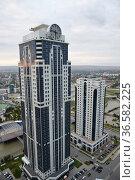 Skyscrapes of Grozny City, Chechnya, Russia. Редакционное фото, фотограф Знаменский Олег / Фотобанк Лори