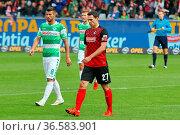 Nicolas Höfler (Freiburg) führt sein Team als Kapitän zu einem 5:... Стоковое фото, фотограф Zoonar.com/Joachim Hahne / age Fotostock / Фотобанк Лори
