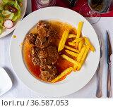 Meat for bull tail stew Rabo de toro Spain. Стоковое фото, фотограф Яков Филимонов / Фотобанк Лори
