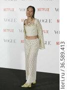 Singer Sarah Griff attend Vogue Fashion's night out at Casa Vogue... Редакционное фото, фотограф MarcosPergon / age Fotostock / Фотобанк Лори