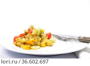 Gemischter Kartoffelsalat - Mixed Potato salad. Стоковое фото, фотограф Zoonar.com/lantapix / easy Fotostock / Фотобанк Лори