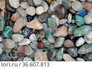 Bunte Steine, bunt, stein, steine,mineral, mineralien, farbig, chaos... Стоковое фото, фотограф Zoonar.com/Volker Rauch / easy Fotostock / Фотобанк Лори