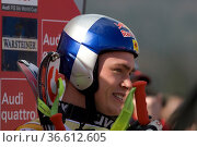 Eric Guay, Kanada, FIS Ski Weltcup Abfahrt der Herren, Kandahar-Rennen... Стоковое фото, фотограф Zoonar.com/Günter Lenz / age Fotostock / Фотобанк Лори