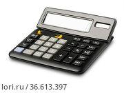 Calculator isolated on white background. Стоковое фото, фотограф Zoonar.com/Ilya Starikov / easy Fotostock / Фотобанк Лори