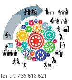 Infografik Teamarbeit. Стоковое фото, фотограф Zoonar.com/scusi / age Fotostock / Фотобанк Лори