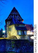 Burg , Michelstadt, kellerei, architektur, altstadt, abend, abends... Стоковое фото, фотограф Zoonar.com/Volker Rauch / easy Fotostock / Фотобанк Лори