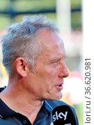 Trainer Christian Streich (Freiburg) im Sky Interview 2. Fussball... Стоковое фото, фотограф Zoonar.com/Joachim Hahne / age Fotostock / Фотобанк Лори
