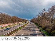 Bundesautobahn 555 Richtung Bonn. Стоковое фото, фотограф Zoonar.com/Kay Augustin / age Fotostock / Фотобанк Лори