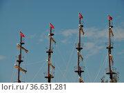 Mast eines Bootes, mast, boot, bootsmast, schiffsmast, schiff, türkei... Стоковое фото, фотограф Zoonar.com/Volker Rauch / easy Fotostock / Фотобанк Лори