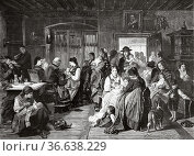 Vaccination in the 19th century, painting by Friedrich Adolph Hornemann... Редакционное фото, фотограф Jerónimo Alba / age Fotostock / Фотобанк Лори