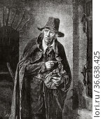 The miser, painting by Wilhelm Leopolski (1828-1892) was a Polish... Редакционное фото, фотограф Jerónimo Alba / age Fotostock / Фотобанк Лори
